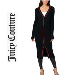 NWT JUICY COUTURE Black Duster Sweater Coat Jacket